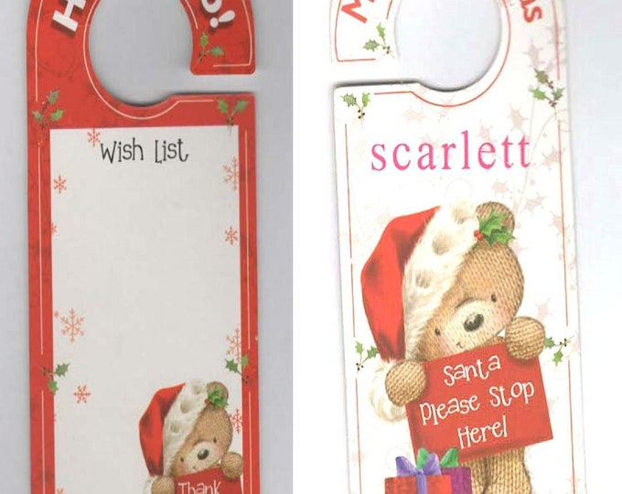 door hanger, personalised with name of your choice