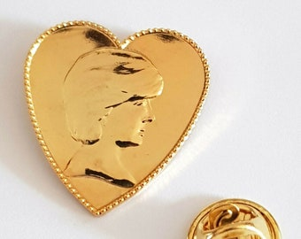 9ct gold Plated Diana, Princess of Wales brooch, Pin Badge / tie pin unisex gift