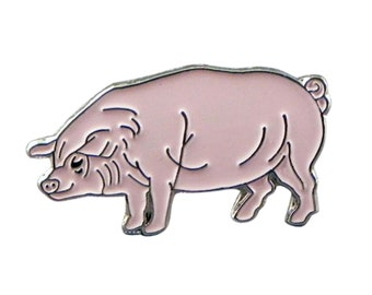 pink farm pig Badge english pewter Lapel /tie Pin Badge 3d effect with clip