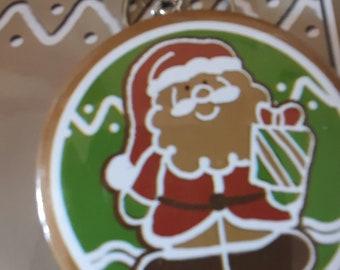 christmas theme santa keyring with mirror, keychain keyring  ideal gift