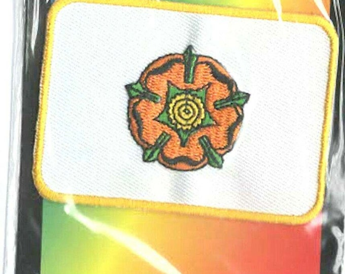 historic lancashire county uk embroidered iron / sew on patch