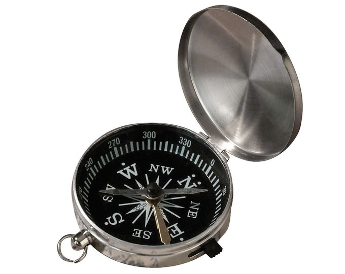 compass metal cased keyring ideal small gift
