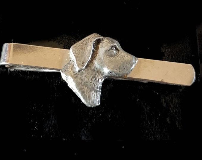 antique pewter dog Design  / tie slide in gift box, cards, tieclip, tie holder