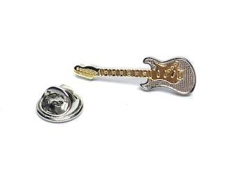 Two Tone Electric Guitar Electric Guitar  Design  / tie pin,lapel pin, badge