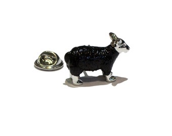 Black Sheep Farm animal clip on rear Pin ,Badge / tie pin unisex gift gift boxed