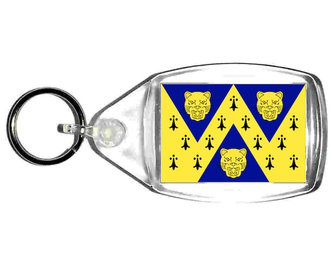 shropshire Flag uk county keyring  handmade in uk from uk made parts, keyring