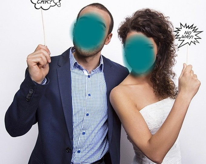 Pack of 2 Speech Bubbles for the Wedding Couple or Guests to Write a Message