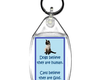 cats believe there what! keyring  handmade in uk from uk made parts, keyring