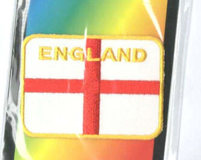 england, st george embroidered iron / sew on patch