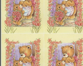 mother and baby bear 4 on sheet decoupage sheet high quality printed on quality paper ideal cards etc