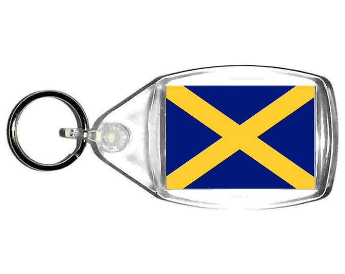 mercia Flag uk county keyring  handmade in uk from uk made parts, keyring