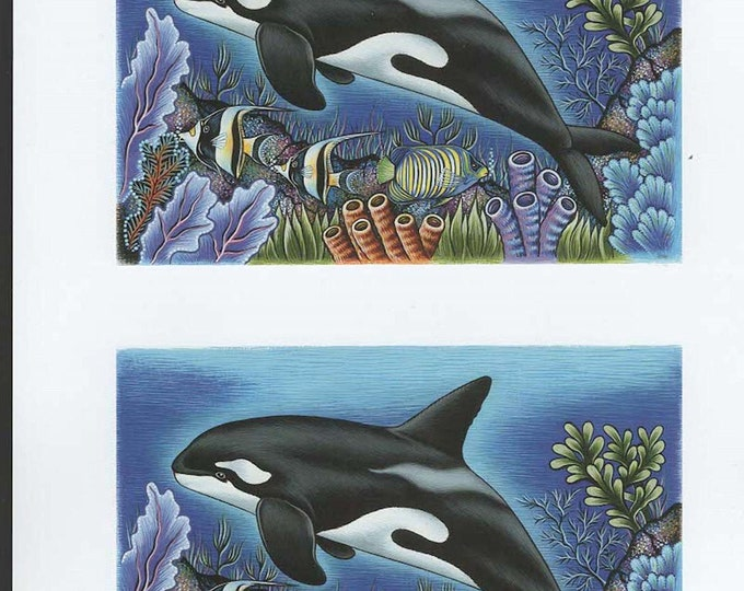 whale orcha decoupage sheet high quality print on 120gsm paper ideal cards