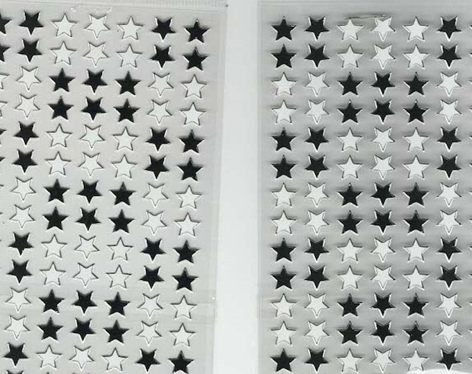 stars, 2 sheets of peel off stickers ideal cards, papercraft, displays, scrapbooking etc
