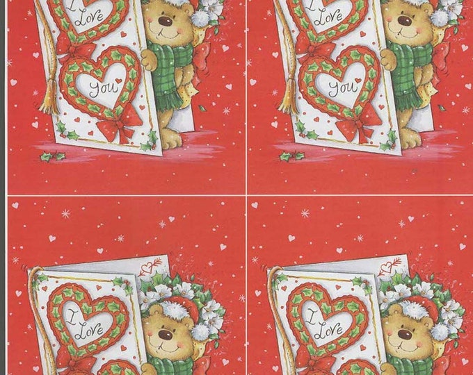 i love you bear style decoupage sheet high quality printed on quality paper