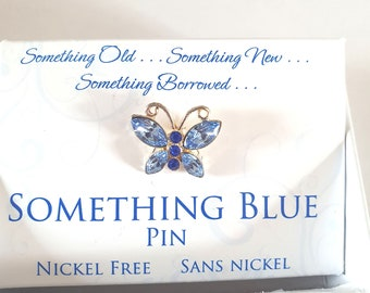 something blue pin silver  gift boxed