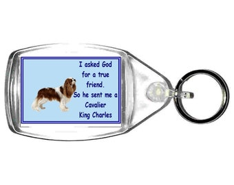 cavailer king charles keyring  handmade in uk from uk made parts, keyring
