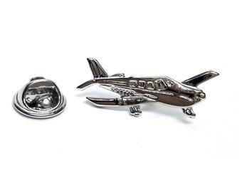 Piper Archer Aeroplane tie pin, Lapel Pin Badge, in gift box