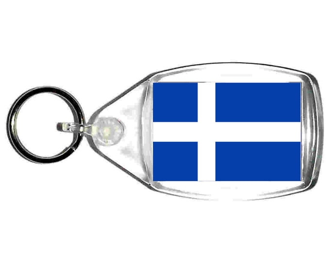 shetland Flag uk county keyring  handmade in uk from uk made parts, keyring