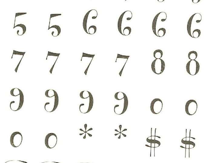 gold numbers sheet of peel off stickers  ideal cards, papercraft, displays,