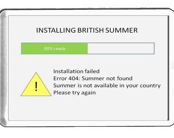 installing summer  handmade in uk from uk made parts, fridge magnet