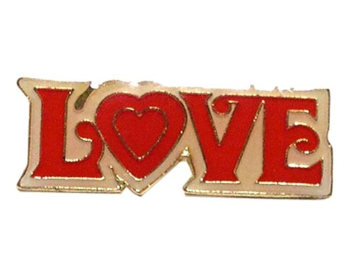love tie pin, Lapel Pin Badge, in gift box detailed design
