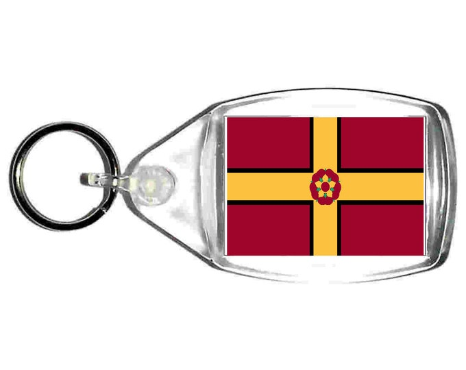 northamptonshire Flag uk county keyring  handmade in uk from uk made parts, keyring