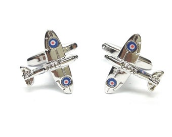 silver spitfire mk11 Cufflinks design Cufflinks in gift box cuff links