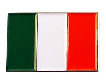 Italy, Italian Flag  lapel pin  handmade in uk from uk made parts, boxed tiepin