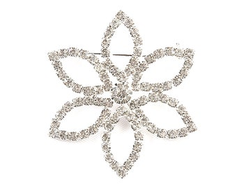 Diamante Brooch sparkling beaty with safety cross clip on back, comes gift boxed