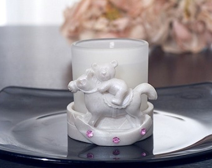 Rocking Horse Votive Candle Pink