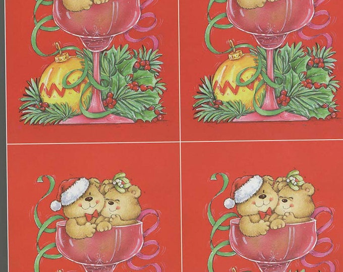 xmas love theme decoupage sheet high quality printed on quality paper ideal card