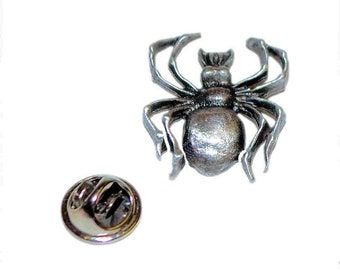 spider, english pewter, arachnid , lapel pin/ tie tac etc, comes in gift box