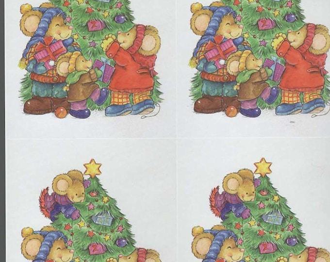 xmas theme decoupage sheet high quality printed on quality paper