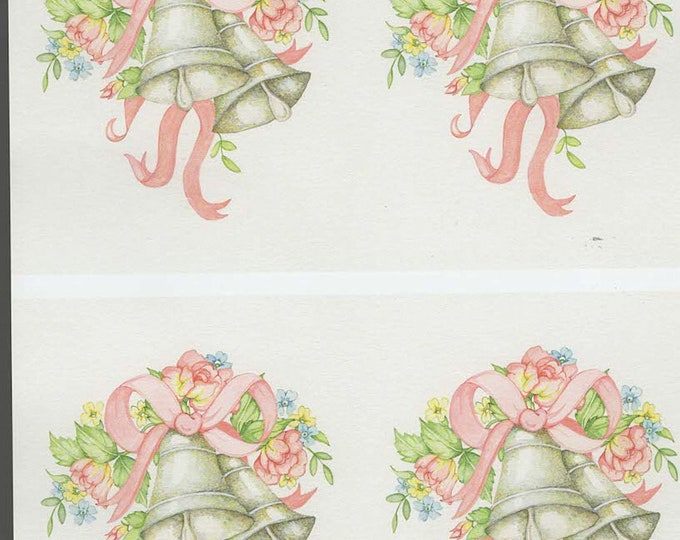 wedding bells style decoupage sheet high quality printed on quality paper ideal