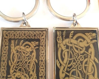 celtic design each side different as shown really detailed metal keychain