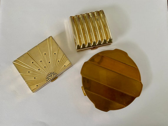 3 Vintage Compacts with Mirror 2 Estee Lauder and
