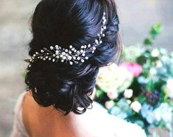 Bridal Hair Clip•Bridesmaid Hair Pin•Bridal Hair Pin•Bridal Hair Accessories.Pearl Hair Clip•Wedding Hair Clip In