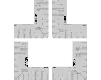 Digital T-Shirt Pocket Ruler File Set, Shirt Chest Placement Tool SVG, Craft Ruler PDF, Custom Shirt Making Ruler Screen, Adult, Kids