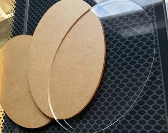 Acrylic Blank Oval, Custom Ornament Blank, Cast Acrylic, Personalize Ornament Blank, Make Your Own Ornament, Holiday Gift, Christmas