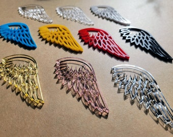 Wholesale Acrylic Wings, Acrylic Angel Wing Blank, Holiday Tree Crafter Supply, Hanging Mirrored DIY Decoration, Christmas Ornament Supply