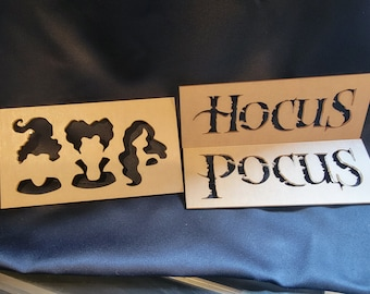 Hocus Pocus Bleaching Stencil Set, Halloween Craft Bleaching, T-shirt Bleach Stencil, Bleaching Stencil, Sublimation Bleach, Sisters Hair