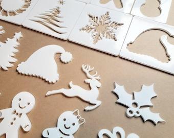 Christmas Bleaching Stencils, Holiday Reverse Bleaching, T-shirt Bleach Stencil, Bleaching Stencil, Sublimation Bleaching, Christmas Blanks