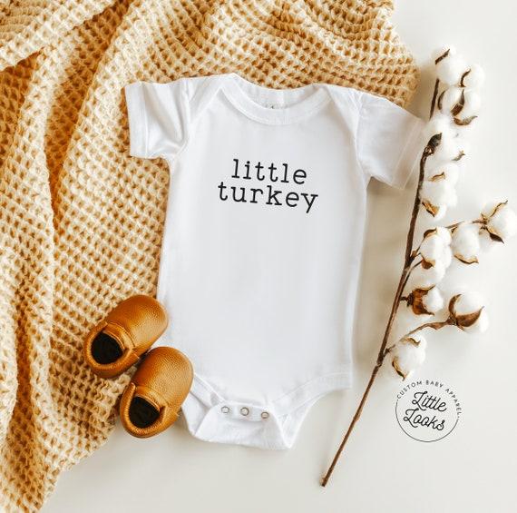Little Turkey Onesie  Thanksgiving Onesie  Fall Onesie  Baby Boy Onesie  Custom Onesies  Baby Clothing Free Shipping!