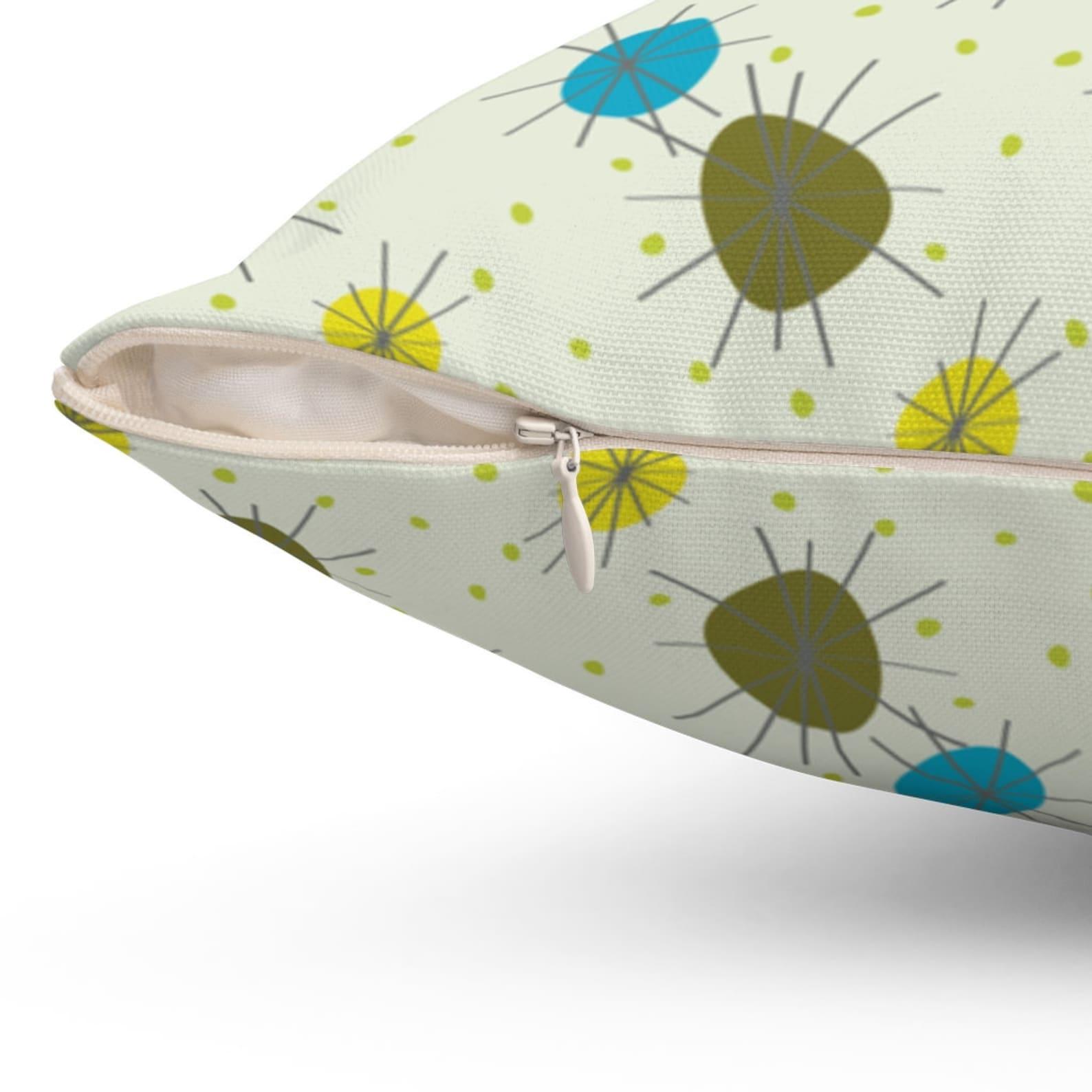 midcentury modern throw pillow atomic starburst retro  etsy