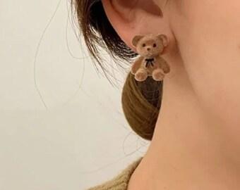 Christmas Bear Studs Bear Earrings Studs Pick your favorite! Bear Posts