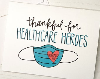 Hospital Key Worker Appreciation Card Doctors Personalised Thank You Card For Nurses Hand Made Medical Card to say Thanks. Healthcare