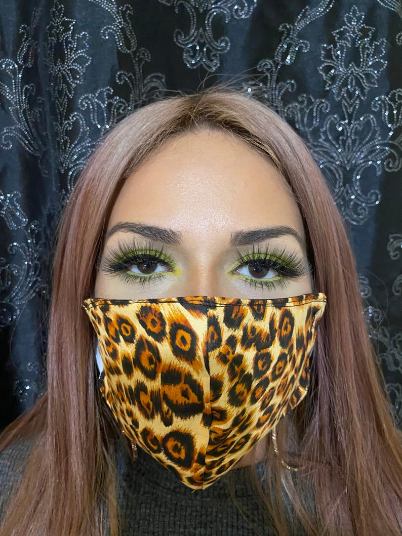Leopard print face mask/ animal print face mask/ face mask ...