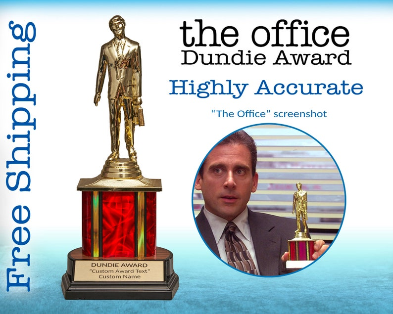 Dundie Award The Office TV Show  Custom Personalized Trophy image 0