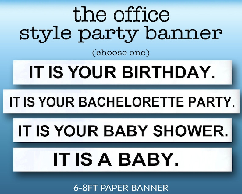 The Office Party Banner  Bachelorette Baby Shower Birthday image 0