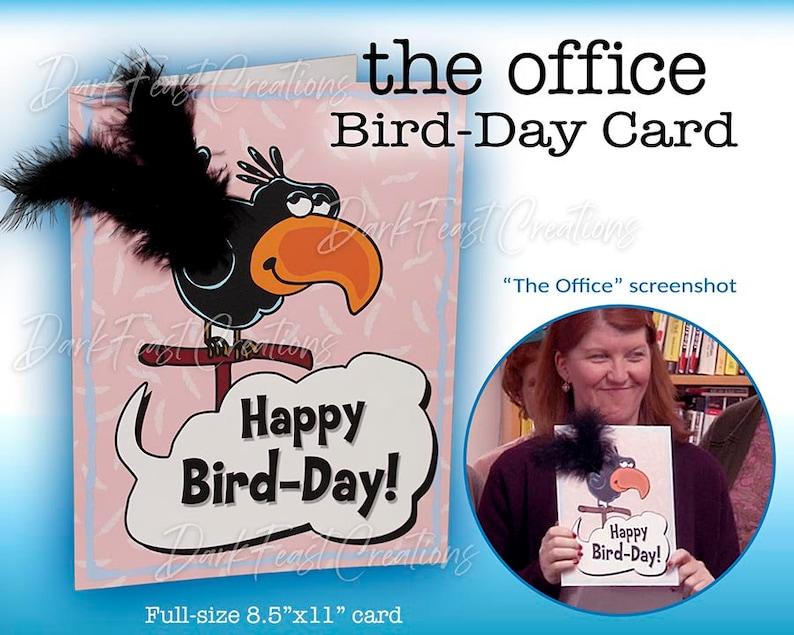 The Office Birthday Card  Happy Bird-Day image 0